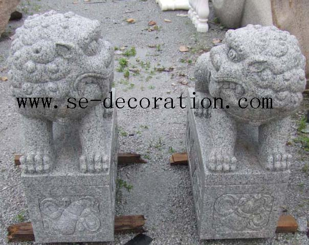 Product name:g603 grey granite lion animal sculpture