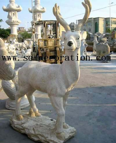 Product name:sunset gold granite antilope animal sculpture