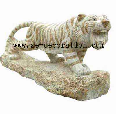 Product name:sunset gold granite tiger animal sculpture