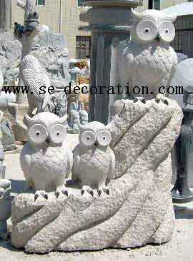 Product name:sunset gold granite owl animal sculpture