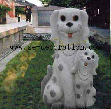 Product name:sunset gold granite dog animal sculpture