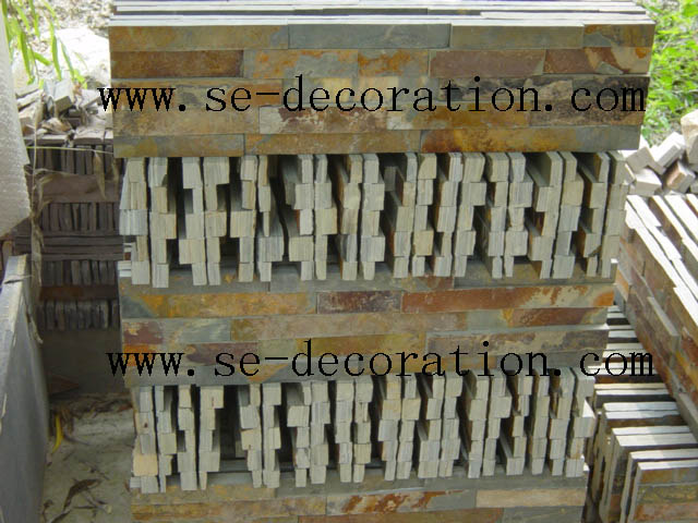 Product name:green rust slate panels