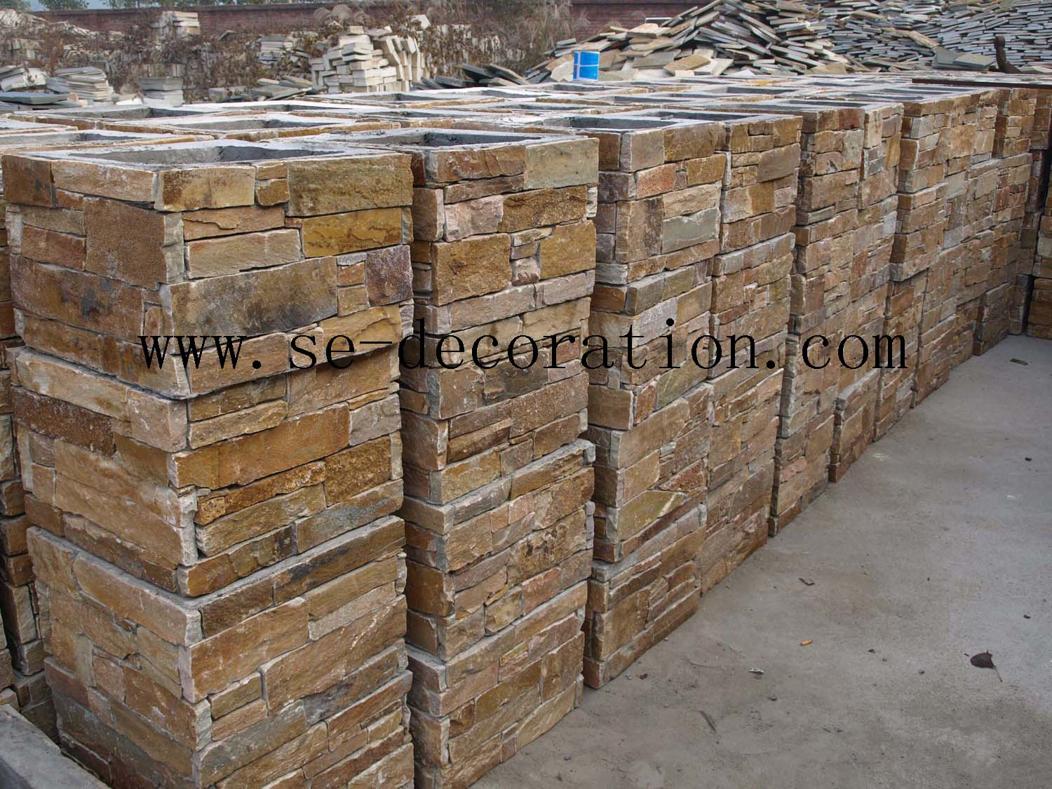 Product name:brown slate square column