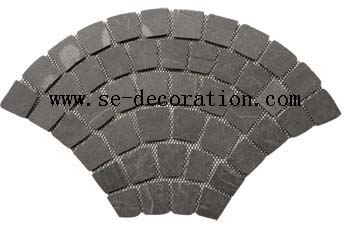 Product name:black slate mesh fan