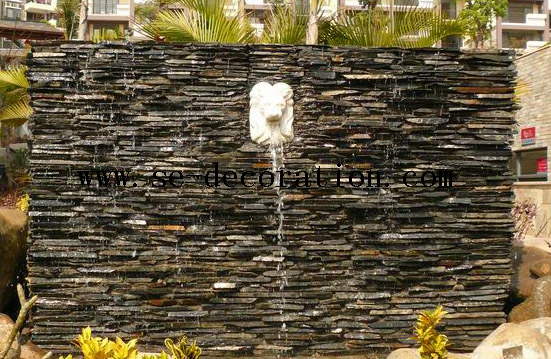 Product name:black slate wall panels for water fall