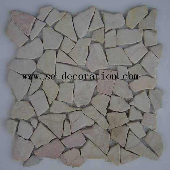 Product name:beige marble mosaic