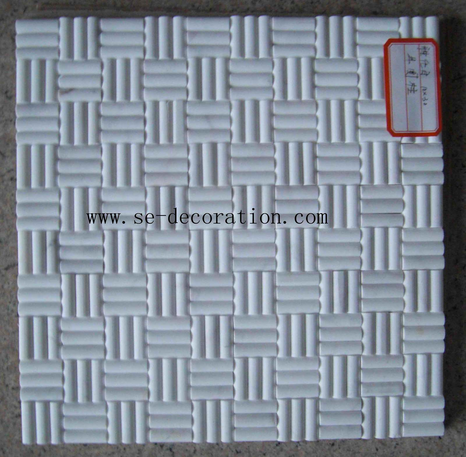 Product name:ariston white marble mosaic