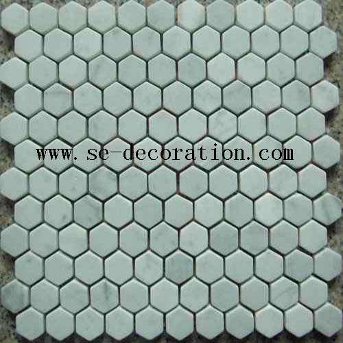 Product name:bianco carrara marble mosaic 3