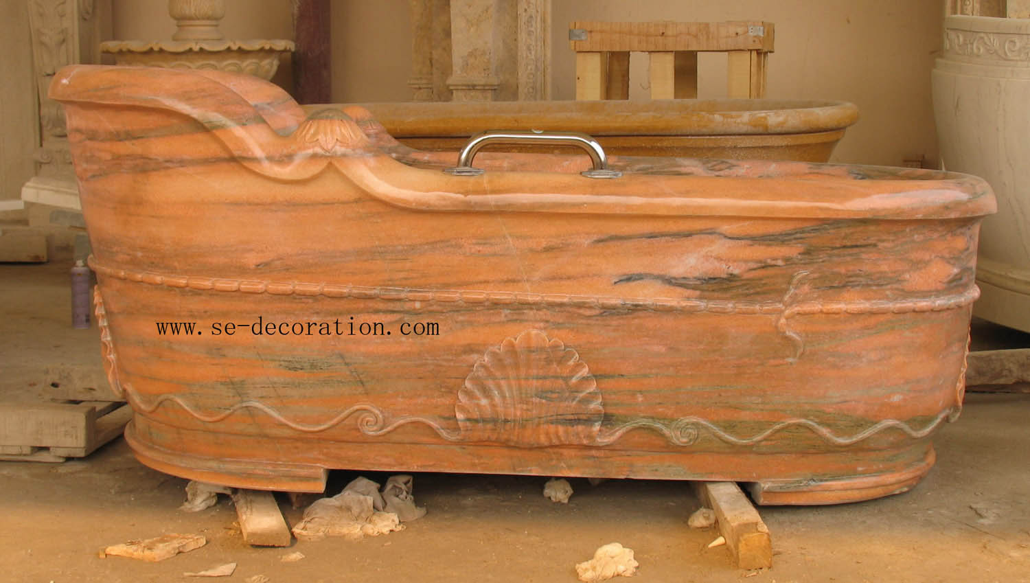 Product name:pink marble bathtub