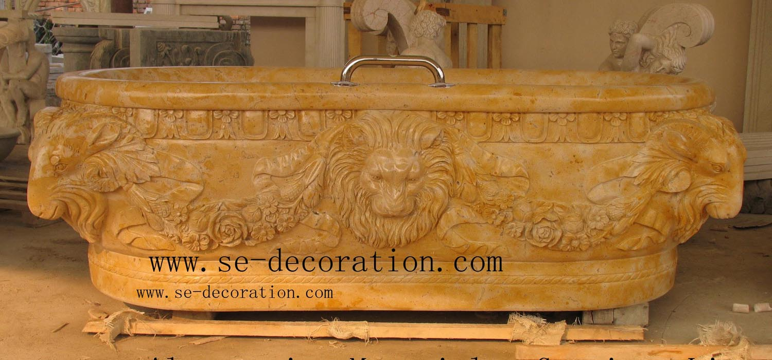 Product name:yellow marble bathtub