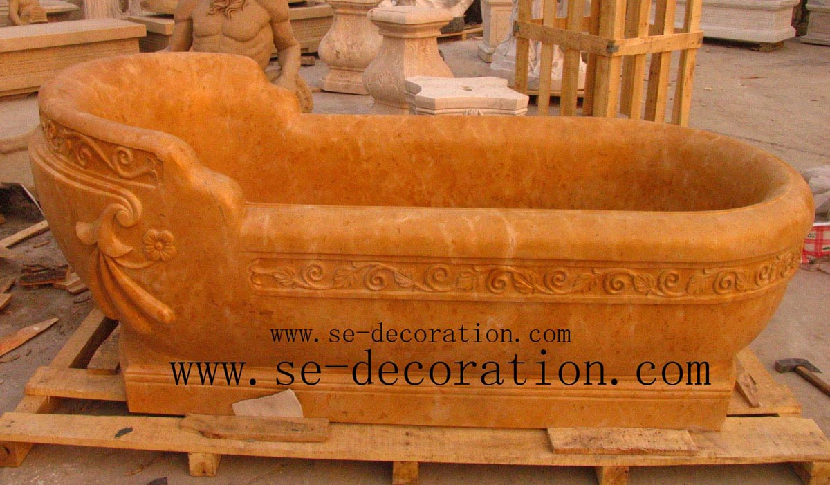 Product name:orange marble bathtub