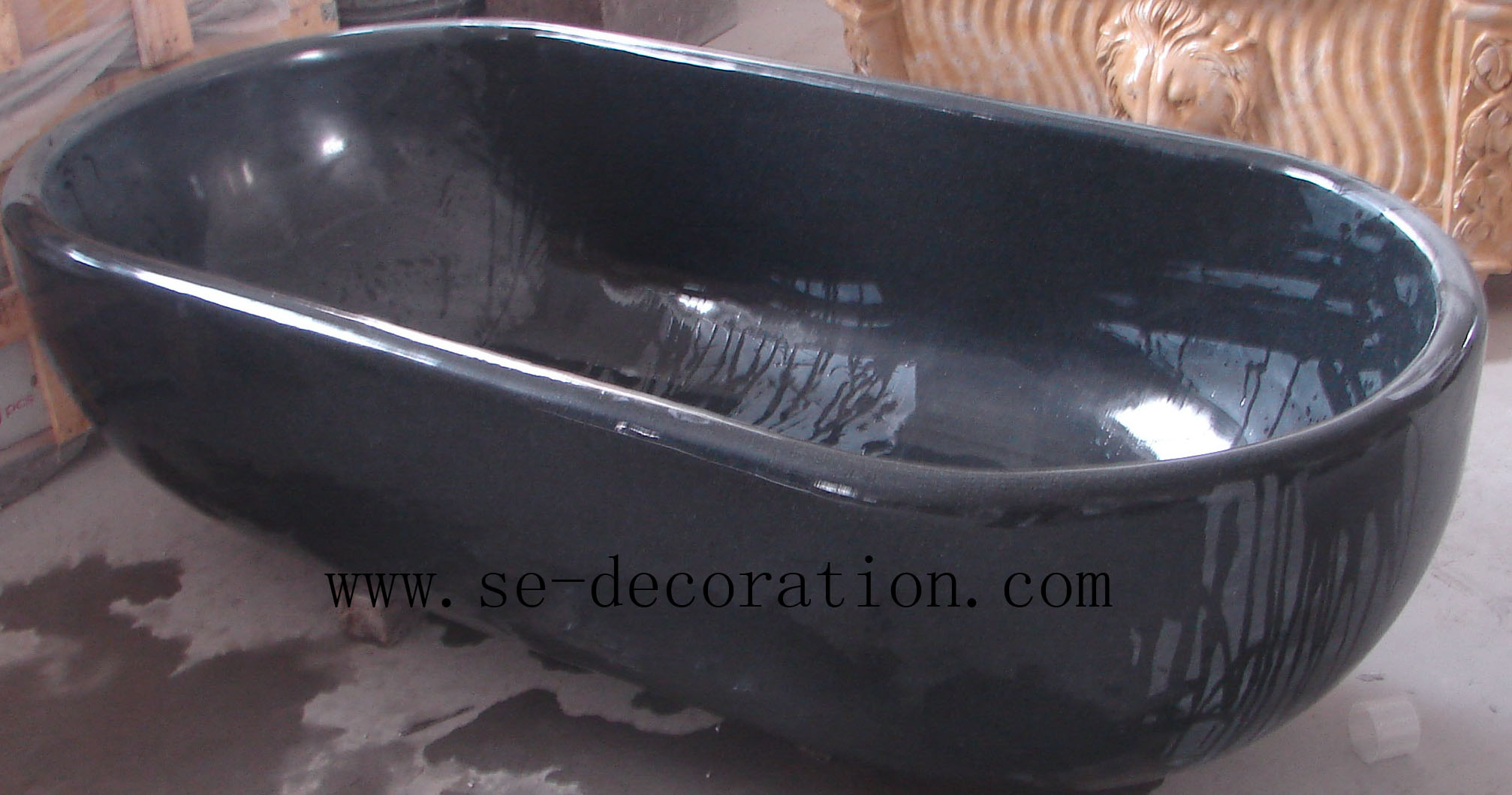 Product name:black granite bathtub