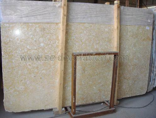 Product name:shell golden marble slab