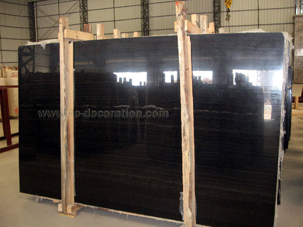 Product name:wooden vein black marble slab