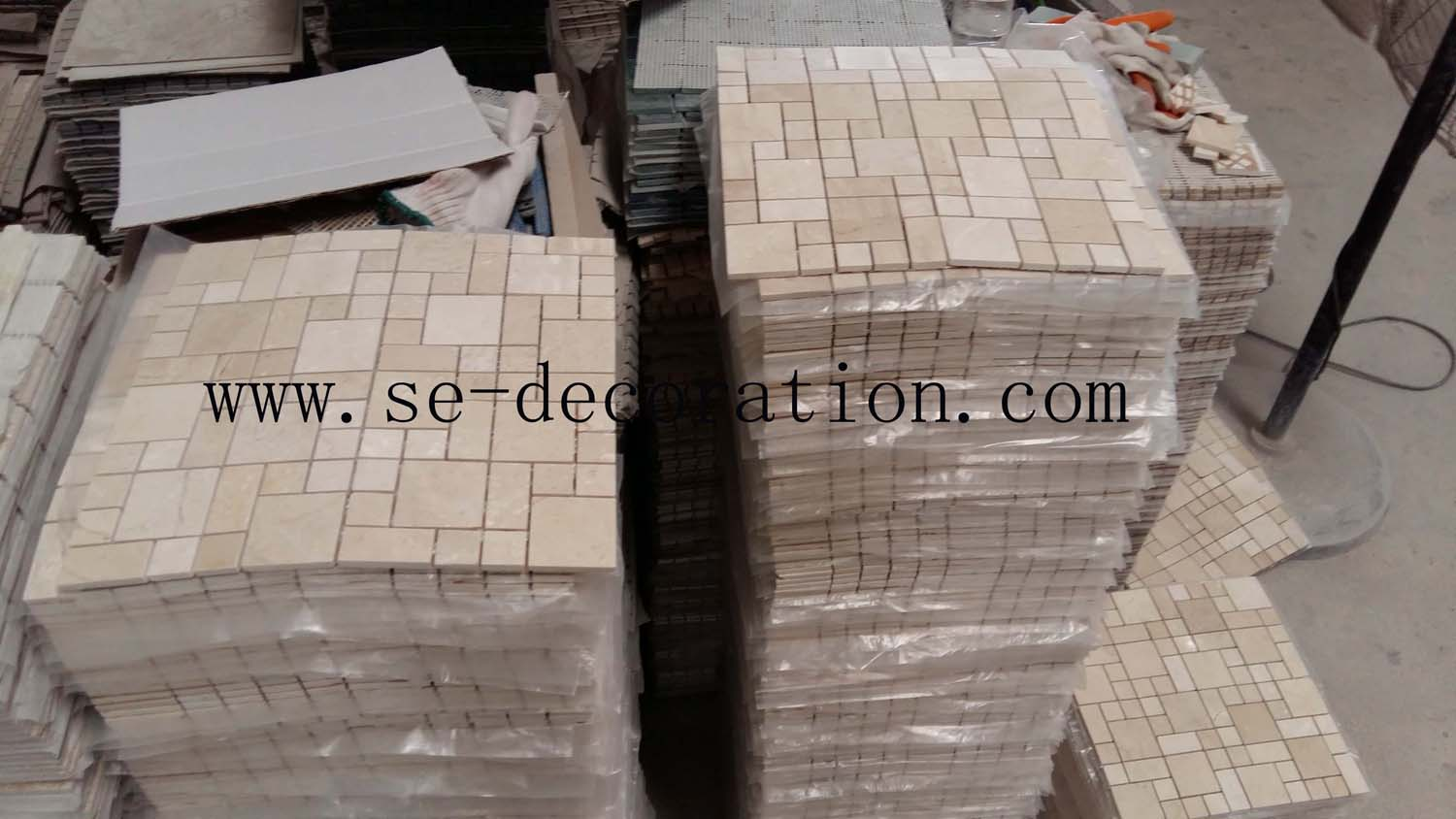 Product name:Crema Marfil Mosaic