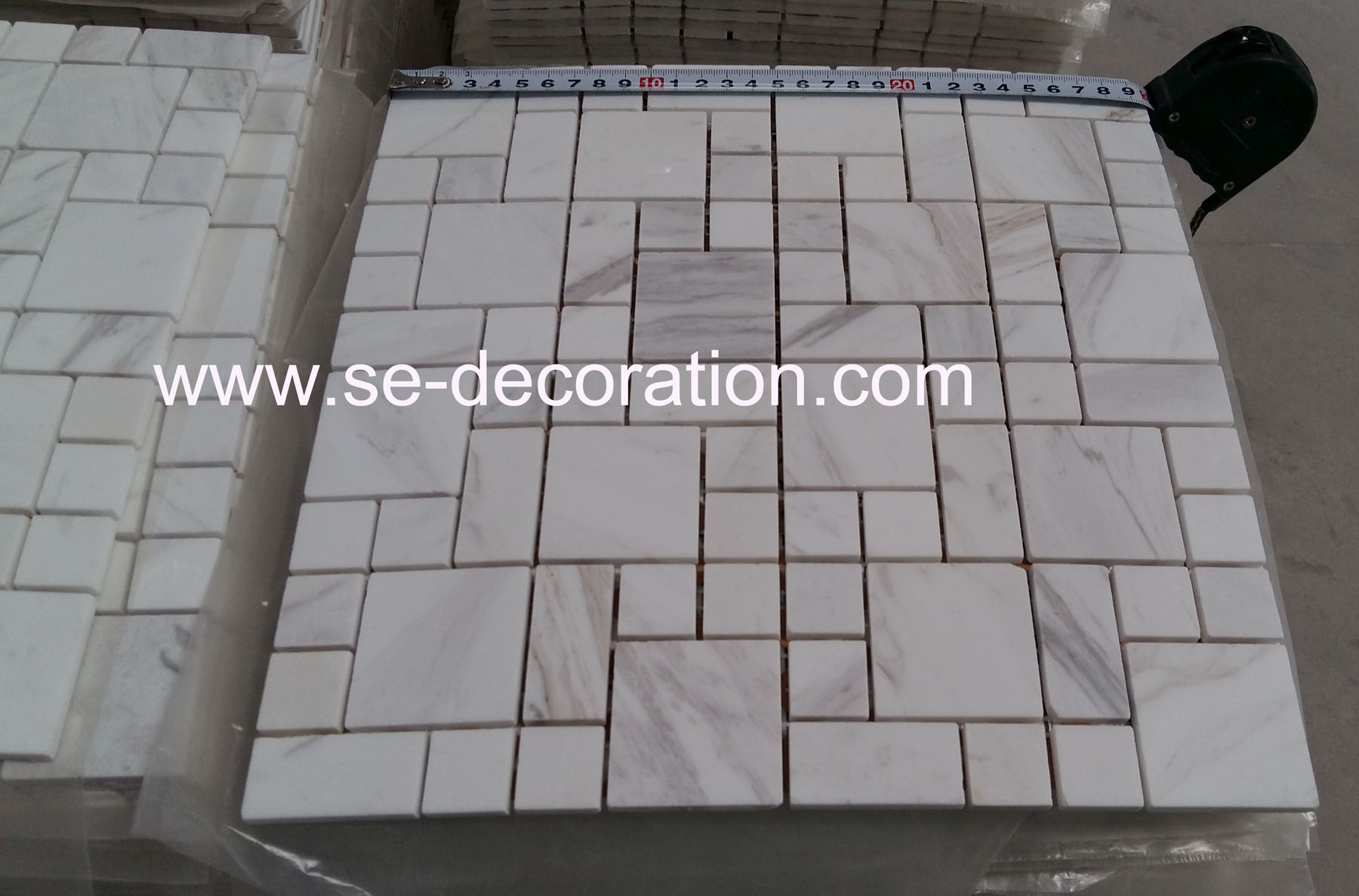 Product name:Volakas White Marble Mosaic